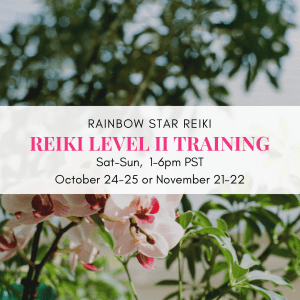Rainbow Star Reiki Level 2 Fall 2020 Schedule